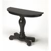 Millard Black Licorice Console Table, Black Licorice