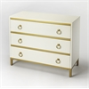 Monika White & Gold Accent Chest, Cottage White