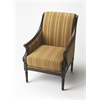 Wexford Black Licorice Accent Chair, Black Licorice