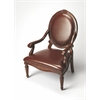 Butler Rookwood Brown Leather Accent Chair, Plantation Cherry