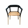 Mod Made Jasper Steel Wood Chair, Black/Natural