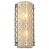 PLC Lighting PLC 2 Light Wall Sconce Ethen Collection , Polished Chrome