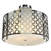 PLC 3 Light Ceiling Light Ethen Collection , Polished Chrome