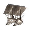 PLC Lighting PLC 4 Light Ceiling Light Square Collection , Satin Nickel