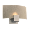 PLC 1 Light Sconce Cubic Collection , Silver