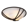 PLC Lighting PLC 3 Light Ceiling Light Highland Collection , Oil Rubbed Bronze