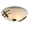 PLC Lighting PLC 2 Light Ceiling Light Antasia Collection , Oil Rubbed Bronze