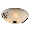 PLC Lighting PLC 3 Light Ceiling Light Antasia Collection , Oil Rubbed Bronze