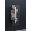 PLC Lighting PLC 4 Light Sconce Ice Cube Collection , Satin Nickel