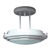 PLC 1 Light Semi Flush Mount Cascade Collection , Polished Brass