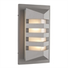 PLC Lighting PLC 1 Light Outdoor Fixture De Majo Collection , Silver