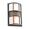 PLC 1 Light Outdoor Fixture Larissa Collection , Bronze
