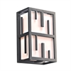 PLC Lighting PLC 1 Light Outdoor Fixture Larissa Collection , Bronze