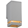 PLC 1 Light Outdoor Fixture Porto-I Collection , Silver