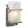 PLC Lighting PLC 1 Light Outdoor Fixture Oxford Collection , Silver