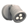 PLC Lighting PLC LED Outdoor Fixture Ledra Collection , Silver