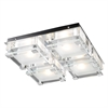 PLC Lighting PLC 4 Light Ceiling Light Corteo Collection , Polished Chrome