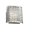 PLC 2 Light Sconce Jewel Collection , Polished Chrome
