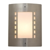 PLC Lighting PLC 1 Light Outdoor Fixture Paolo Collection , Satin Nickel