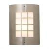 PLC Lighting PLC 1 Light Outdoor Fixture Turin Collection , Satin Nickel