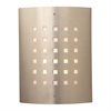 PLC Lighting PLC 1 Light Outdoor Fixture Figaro Collection , Satin Nickel