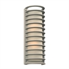 PLC 2 Light Outdoor Fixture Sunset Collection 2036BZ, Silver