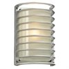 PLC Lighting PLC 1 Light Outdoor Fixture Sunset Collection , Silver