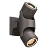 PLC Lighting PLC 2 Light Outdoor LED Vela Collection , Bronze