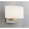 PLC Lighting PLC 1 Light Sconce Ibiza Collection , Satin Nickel