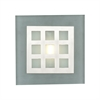 PLC Lighting PLC 1 Light Sconce Bali Collection , Satin Nickel