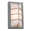 PLC 1 Light Outdoor Fixture Expo Collection , Silver