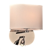 PLC Lighting PLC 1 Light Wall Sconce Mademoiselle Collection , Polished Chrome