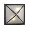 PLC Lighting PLC 2 Light Outdoor Fixture Danza Collection , Bronze