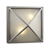 PLC 2 Light Outdoor Fixture Danza Collection , Silver