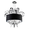 PLC 4 Light Chandelier Valeriano Collection , Polished Chrome