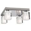 PLC Lighting PLC 4 Light Ceiling Light Glacier Collection , Polished Chrome