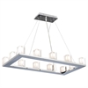 PLC 12 Light Pendant Glacier Collection , Polished Chrome
