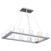 PLC Lighting PLC 12 Light Pendant Glacier Collection , Polished Chrome