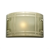 PLC Lighting PLC 1 Light Outdoor Fixture Oslo Collection , Polished Chrome