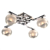 PLC Lighting PLC 4 Light Wall Sconce Tidur Collection , Polished Chrome