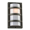 PLC 1 Light Outdoor Fixture Spa Collection , Bronze