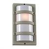 PLC 1 Light Outdoor Fixture Spa Collection , Silver