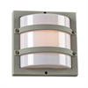 PLC Lighting PLC 1 Light Outdoor Fixture Spa Collection , SIlver