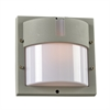 PLC Lighting PLC 1 Light Outdoor Fixture Jedi Collection , Silver