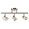 PLC Lighting PLC 3 Light Ceiling/Wall Light Focus Collection 5353 SN, Satin Nickel