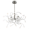 PLC 20 Light Chandelier Fusion Collection , Satin Nickel