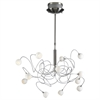 PLC Lighting PLC 12 Light Chandelier Fusion Collection , Satin Nickel