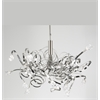 PLC 16 Light Chandelier Ribbon Collection , Satin Nickel