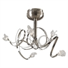 PLC Lighting PLC 5 Light Ceiling Light Ribbon Collection , Satin Nickel