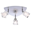 PLC Lighting PLC 3 Light Ceiling Light Avatar Collection , Satin Nickel